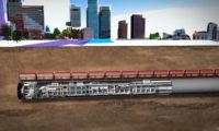 城市建设地下隧道三维动画制作
