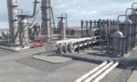 石油加工化工厂三维工业动画